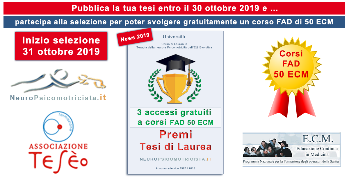 Premi per Tesi di Laurea su Neuropsicomotricista.it